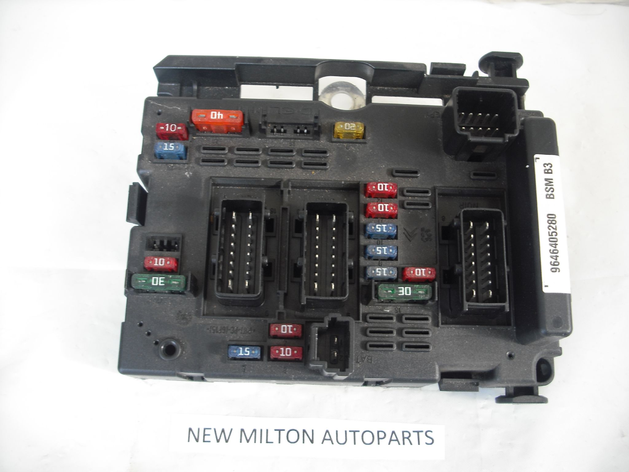 A GENUINE PEUGEOT 206 ENGINE BAY FUSE BOX CONTROL MODULE 9646405280