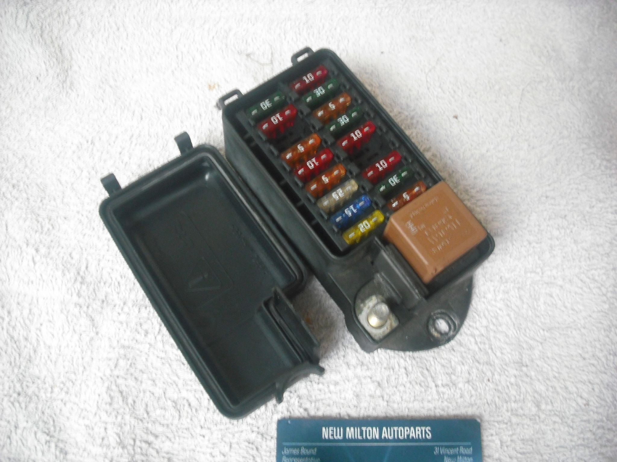 A Jaguar Xj8 X308 Engine Bay Fuse Box 18 Way Module Lne