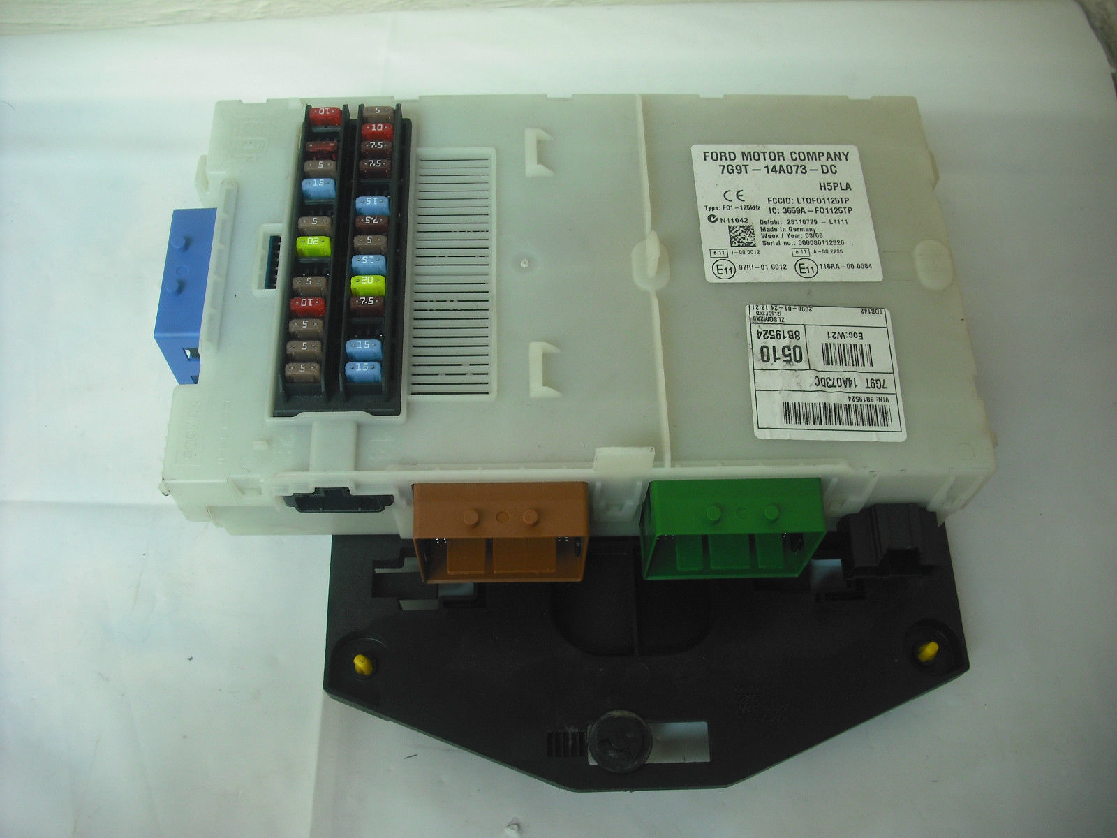 ford galaxy mk3 s max 2 0 tdci fuse box ecu sam unit 7g9t 14a073 dc rh 2cb6df 39 ekmpowershop net 2003 Ford F-150 Fuse Diagram 2007 Ford Edge Fuse Diagram