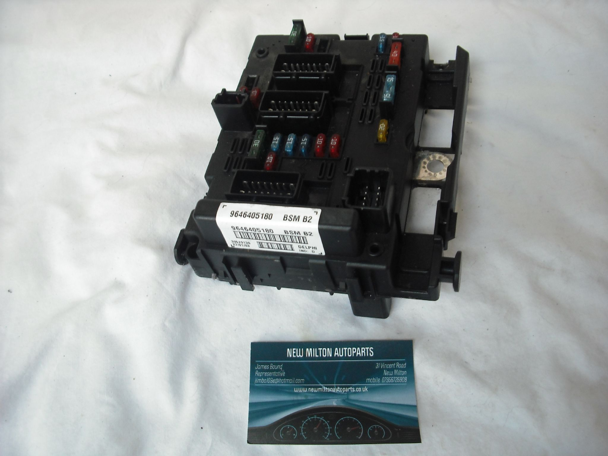Delphi Fuse Box 15 Wiring Diagram Images Diagrams Peugeot 307 Where Is A Genuine 14 16 20 Engine Bay Control Module 9646405180 Bsm B2